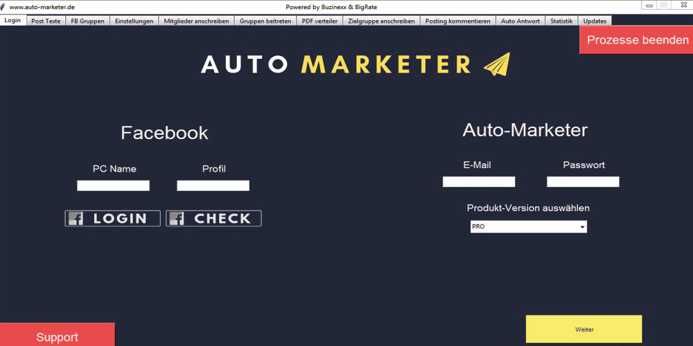 Auto Marketer Software