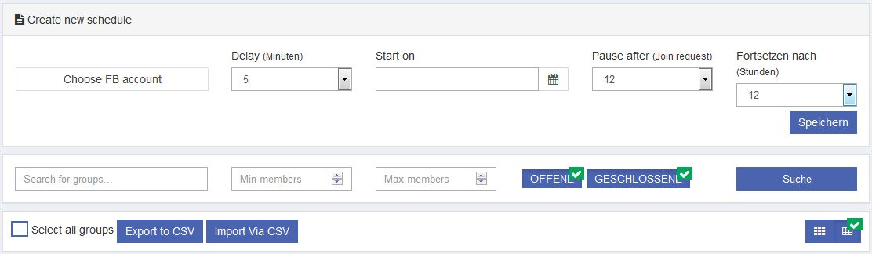 Somedix Facebook Autoposter Gruppen suchen