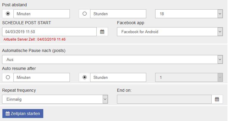 Somedix Facebook Autoposter zeitgesteuert posten