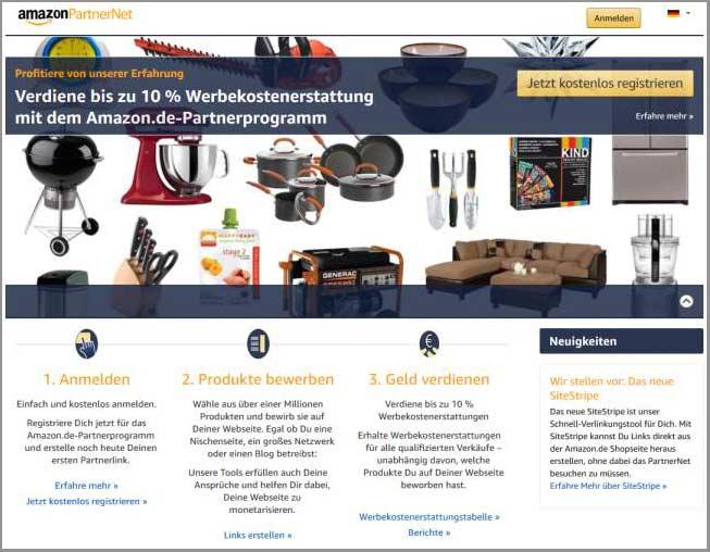 Mit Amazon Geld verdienen - Das Amazon PartnerNet