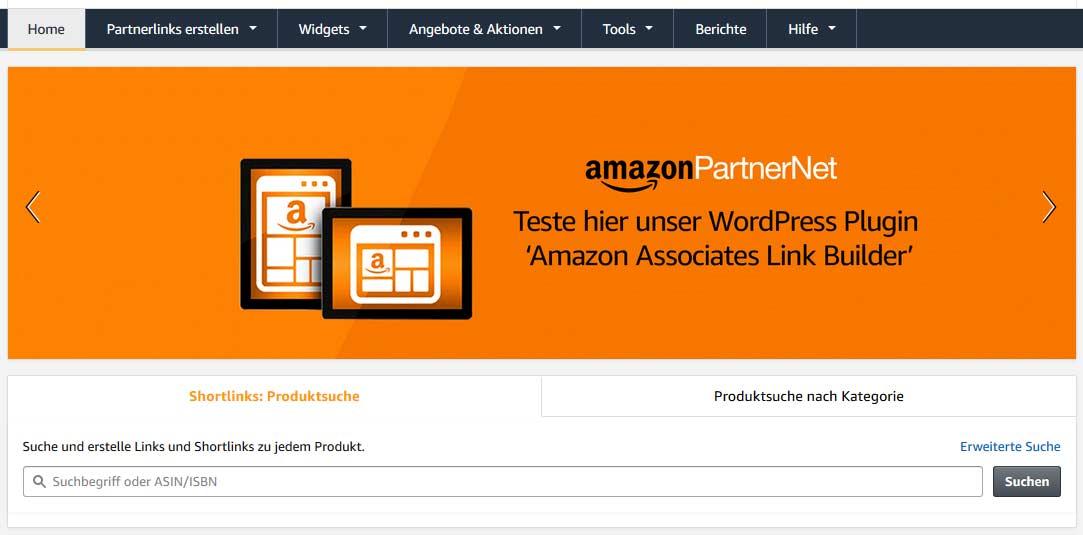 Mit Amazon Geld verdienen - Link erstellen