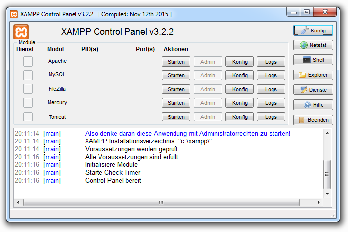 Xampp installieren 09