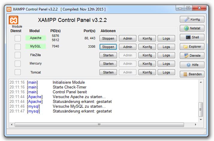 Xampp installieren 10